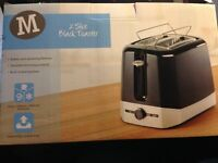 Morrisons Two Slice Black Toaster with Bun Warmer