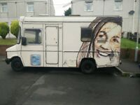 Bedford-CF 350 with full MOT unique campervan with art by PHILTH