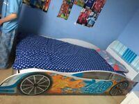 Single racing car bed