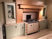 Solid wood modern country style ex-display kitchen - £12,600