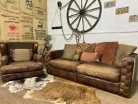 Barker& STONEHOUSE Sofa & SNUGGLE CHAIR fabric leather
