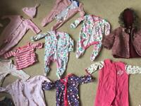 Baby girl clothes (0-9 months)