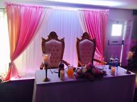 Wedding Days, Centrepieces, Chair Covers, Headtables, Themed Events, Mehndi Nights