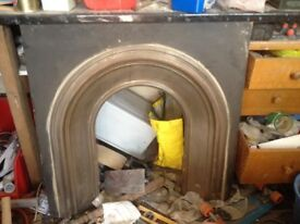 Gallery crown fireplace. Good condition.