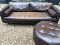 Beautiful Scott 3 seats sofa + footstool from Made