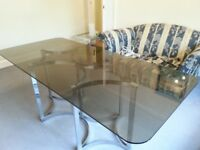 FOR SALE: STUNNING GLASS DINING ROOM TABLE