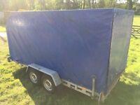 Car transporter trailer, covered