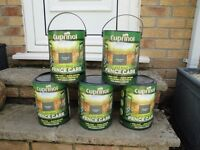 ABSOLUTE BARGAIN 5 x 5ltr cuprinal woodland green less mess fence paint
