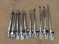 Pearl cymbal unilock boom arms for drum Rack set of 10!