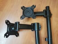Duronic Monitor Arm Stand Single Adjustable Desk Mount in black