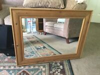 Solid Pine Framed Mirror Measurements 35in/88cm x 27in/69cm