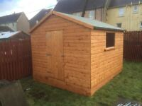 10x8 HEAY duty shed 19 mm T&G 20MM T&G ROOF & FLOOR £639