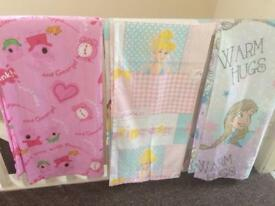 Peppa, frozen and Disney Princess Curtains