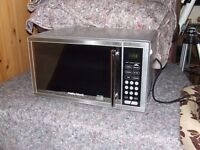 MICROWAVE OVEN STAINLESS STEEL EXCELLENT CONDITION COLLECTION ONLY