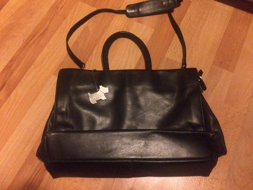 1a9b9bd1b5 Genuine Radley black leather handbag