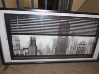 Box framed print of Manhattan Skyline