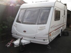 sterling topaz 2001 2 berth caravan wih pouch awning