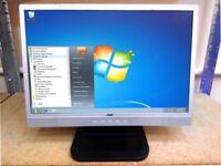 "19"" / 19 Inch Computer Monitor - LCD Slimline FlatScreen WideScreen - PC / MAC / Linux / MacOS / OS"