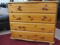 2 x Pine Chests of 4 Drawers