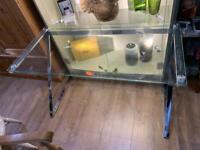 Metal & Glass Computer Desk