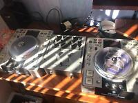 Two denon dn-s3500 and numark mixer m101