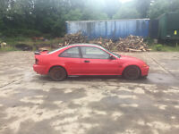 honda civic 1.5lsi coupe red ej2 eg eg6 vti highly modified spares repair project momo lowered