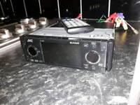 jvc dvd single din widescreen movie player rare (sub amp camera rcas)