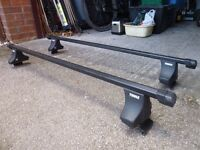 Thule Roof Bars, Fitting Kit, Footpack and Locks - full roofbar kit for your car.