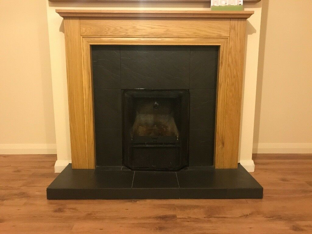 Fireplace, surround & hearth - excellent condition.