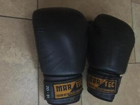 Leather Mar Tec Boxing gloves 16oz
