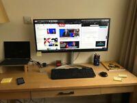 "LG 34"" UltraWide Screen Full HD IPS Led Monitor HDR 10 - Like New"