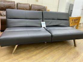 Small black leather click sofa