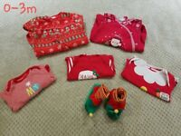 Unisex Christmas baby clothes 0-3m