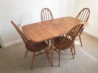 Beautiful Ercol Table & 4 Ercol Chairs