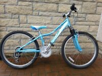 "Giant Areva 24"" Girls Mountain Bike (light blue)"