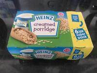 FREE HEINZ Creamed porridge brand new pack