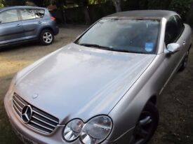 Outstanding Bargin. CLK 240 Mercedes-Benz cabriolet 2004 MOT until 11th Nov 2018.