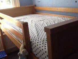 ASPACE solid oak mid / cabin sleeper bed single