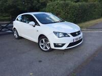 LOVELY 2014 SEAT IBIZA 1.2 TSI FR SPORT COUPE 1 YEAR MOT LOW MILEAGE 4941 CAT D