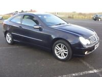 MERCEDES C230 KOMPRESSOR SE COUPE,03,ONLY 70K WITH FSH,MAY MOT,RUNS AND DRIVES LOVELY,GREAT EXAMPLE.