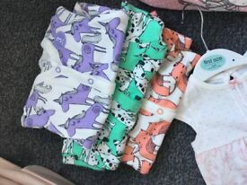Bundle of girls baby clothes, newborn, first size & up to 1 month.