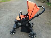 Travel system - oyster pram, bassinet and car seats