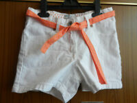 M & S Girl's Shorts- White