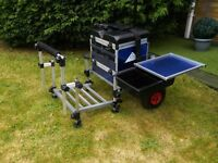 Fishing Seat Box With Footplate & Extras.