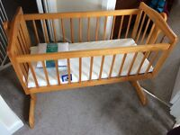 Used crib with brand new mattress and protector