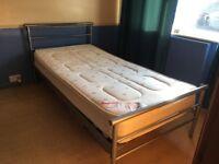 Single Bed Frame & Matteress