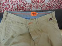 superdry skinny chinos new size large mens.. new .aberbargoed