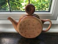 Vintage ceramic collectible novelty digestive biscuit teapot