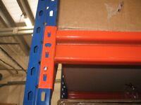 2 x Bays Longspan Warehouse Racking / Shelves - 4M Frames x 800 x 2800mm