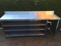 Stainless Steel Kitchen Bar Work Bench Table Catering Commercial